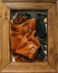 Crumpled self-portrait, crumpled canvas oil painting, 2008 por Titus Khapar