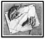 Drawing Hands por M. C. Escher