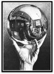 Hand with Reflecting Sphere por M. C.Escher