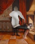 Kindling, 2008, Cut canvas oil painting por ThistusKaphar