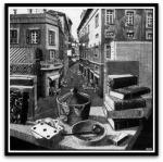 Sitll Life and Street por M. C.Escher