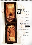 Anthropomorphik calendar 1997 by Dave McKean - April.