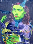 Judith Supine Collage Artwork